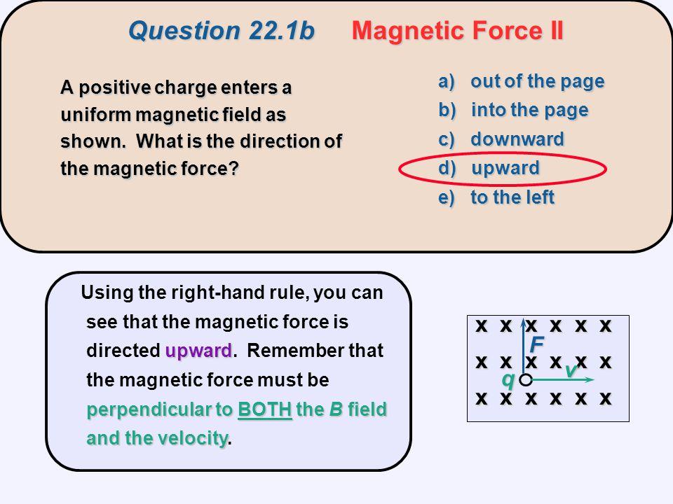 Question 22.1b Magnetic Force II