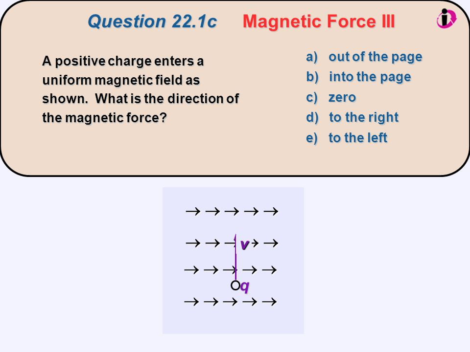 Question 22.1c Magnetic Force III