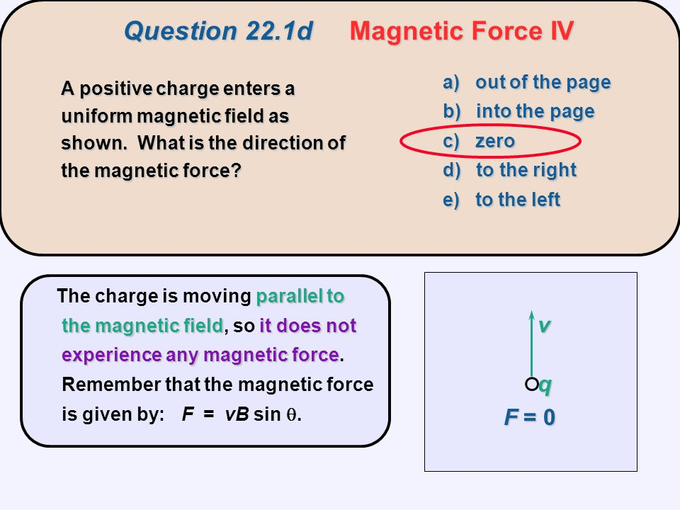 Question 22.1d Magnetic Force IV