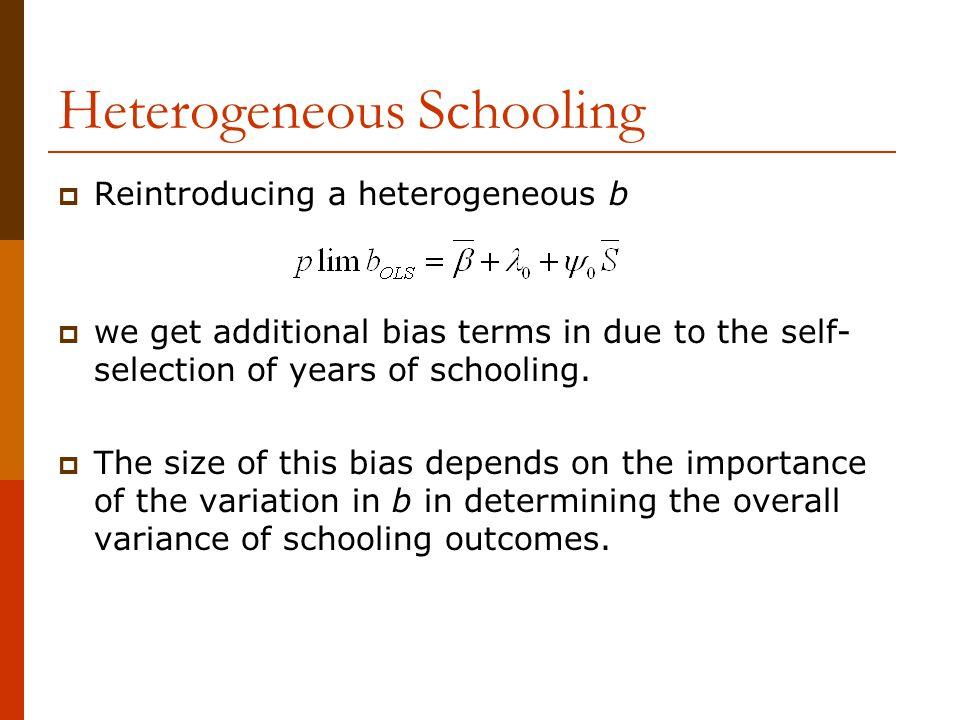 Heterogeneous Schooling