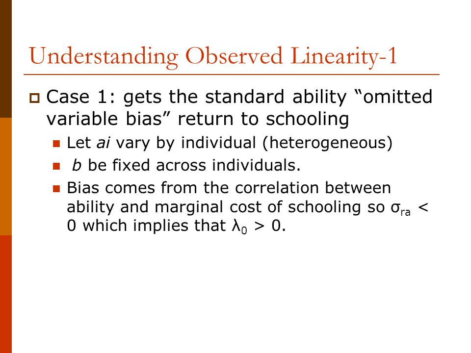 Understanding Observed Linearity-1