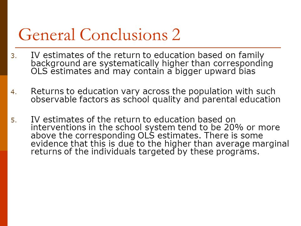 General Conclusions 2