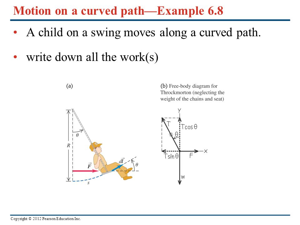 Motion on a curved path—Example 6.8