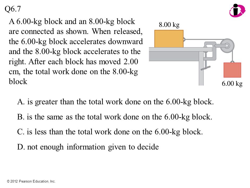 A. is greater than the total work done on the 6.00-kg block.
