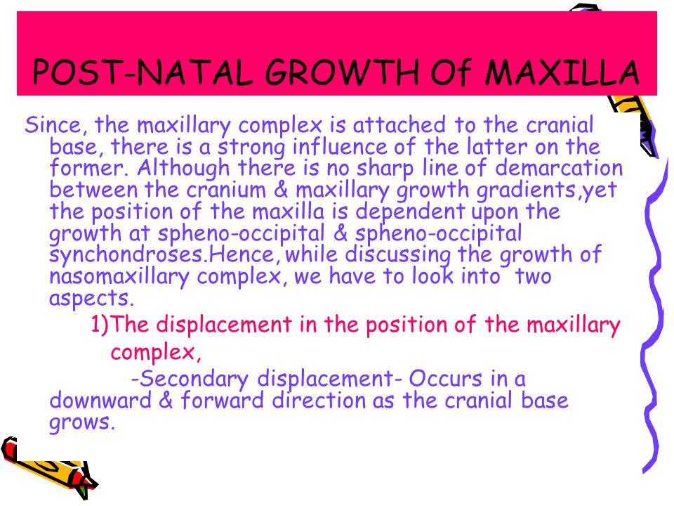 POST-NATAL GROWTH Of MAXILLA