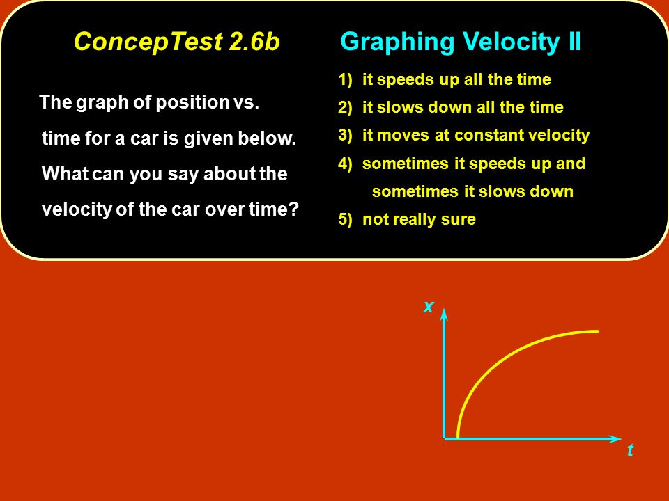 ConcepTest 2.6b Graphing Velocity II