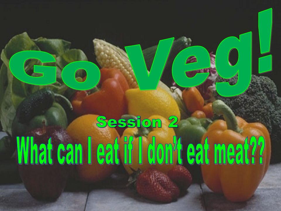 What can I eat if I don't eat meat