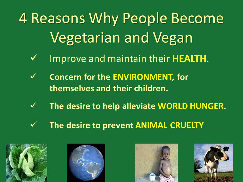 4 Reasons Why People Become Vegetarian and Vegan