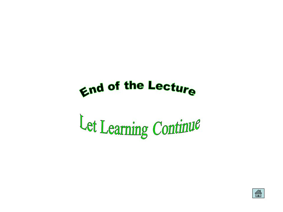 End of the Lecture Let Learning Continue