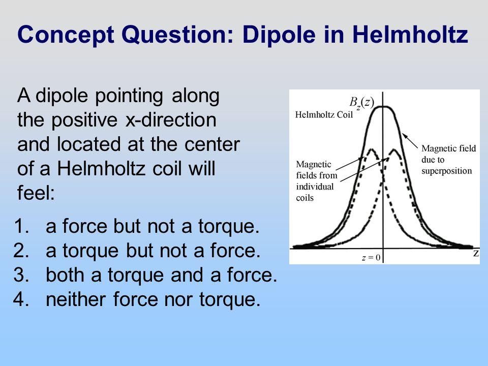 Concept Question: Dipole in Helmholtz