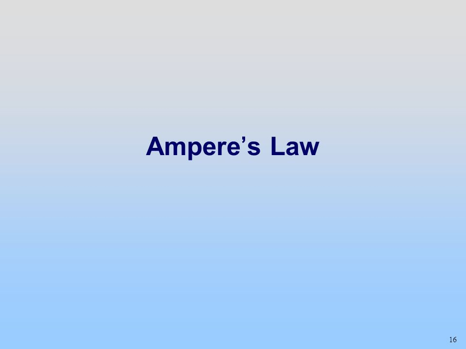 Ampere's Law Class 20