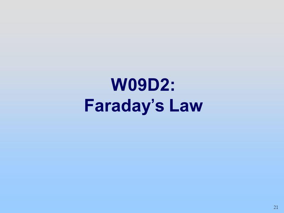 W09D2: Faraday's Law Class 18