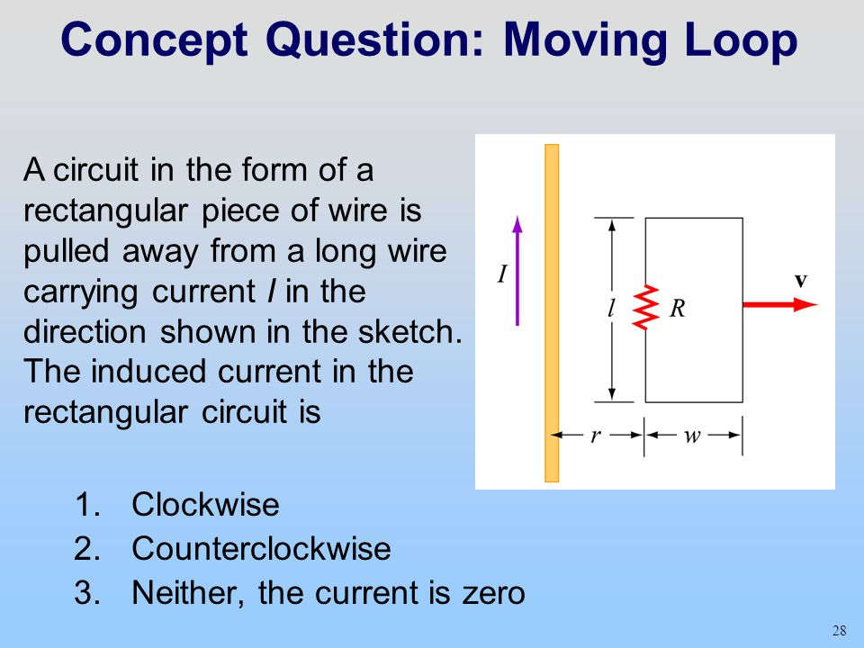 Concept Question: Moving Loop