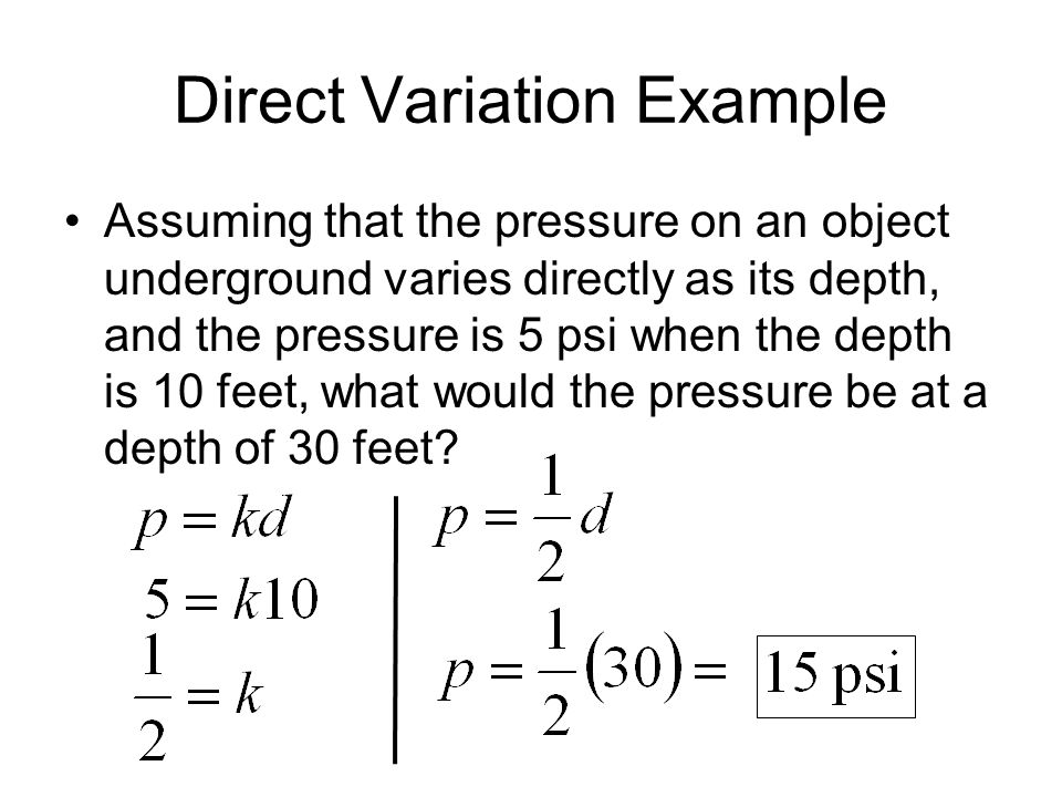 Direct Variation Example