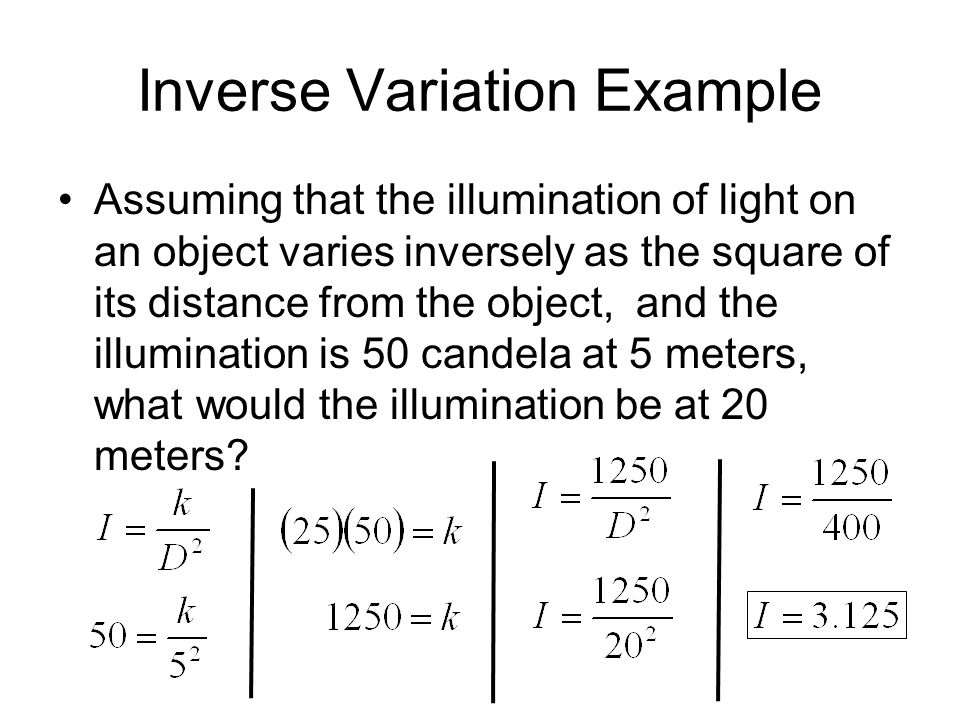 Inverse Variation Example