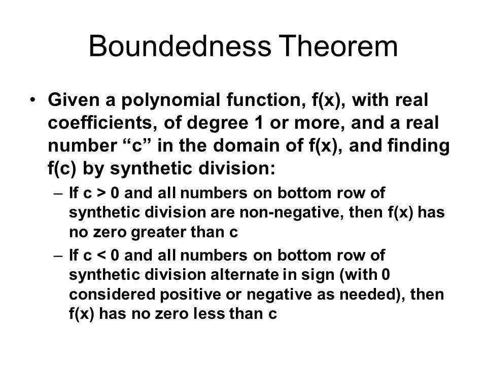 Boundedness Theorem