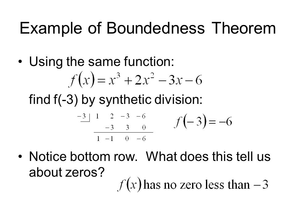 Example of Boundedness Theorem
