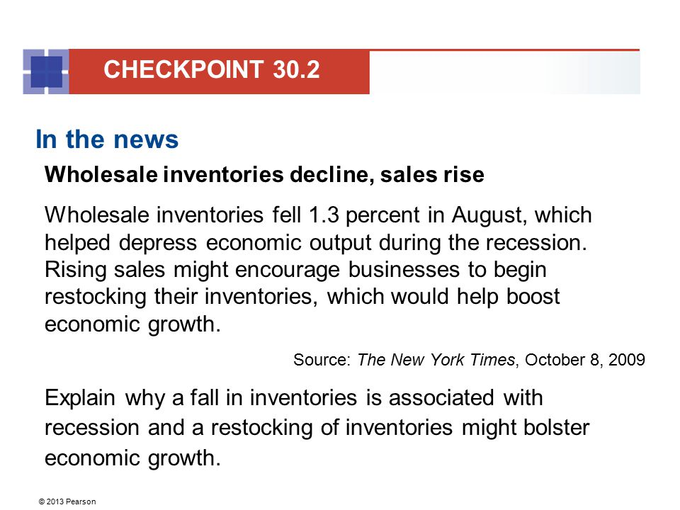 In the news CHECKPOINT 30.2 Wholesale inventories decline, sales rise