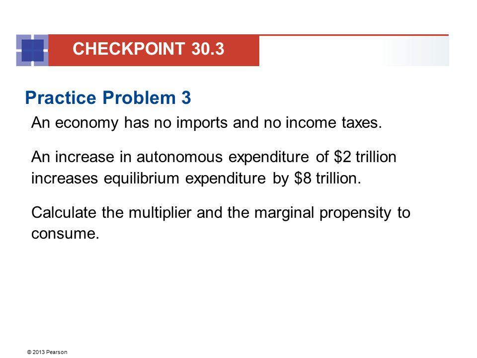 Practice Problem 3 CHECKPOINT 30.3