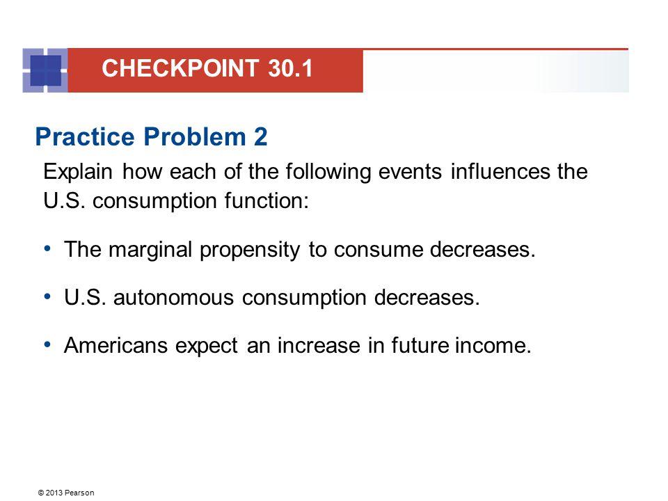Practice Problem 2 CHECKPOINT 30.1