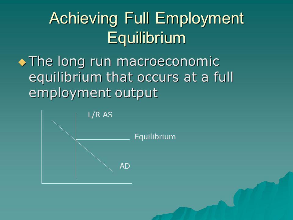 Achieving Full Employment Equilibrium