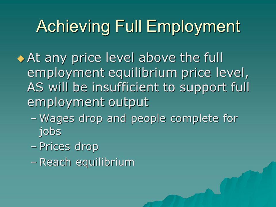 Achieving Full Employment