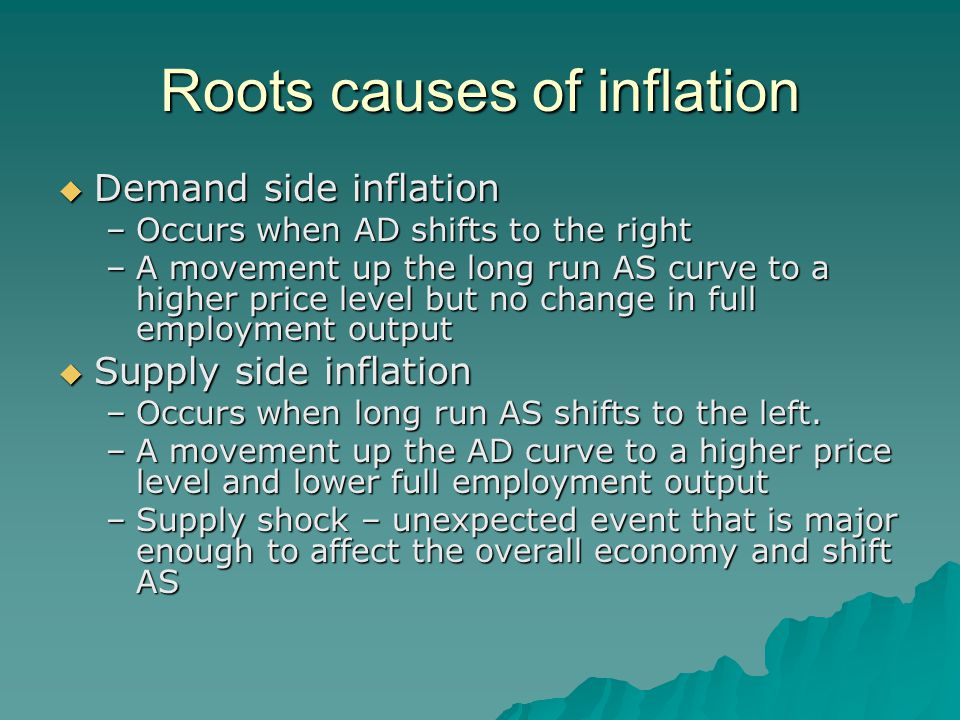 Roots causes of inflation