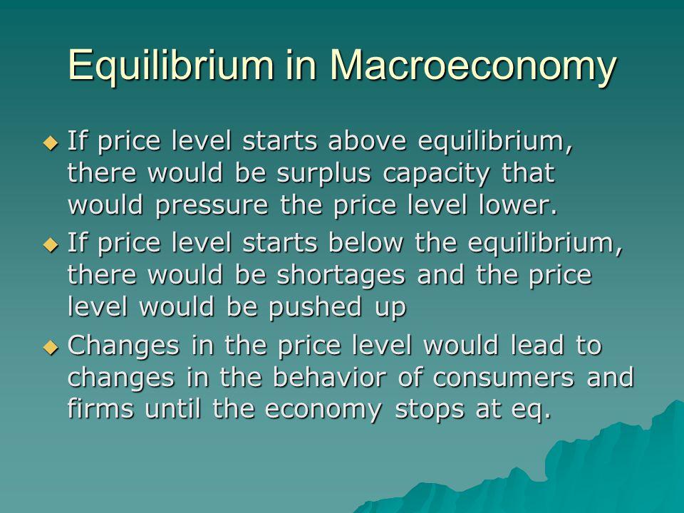 Equilibrium in Macroeconomy