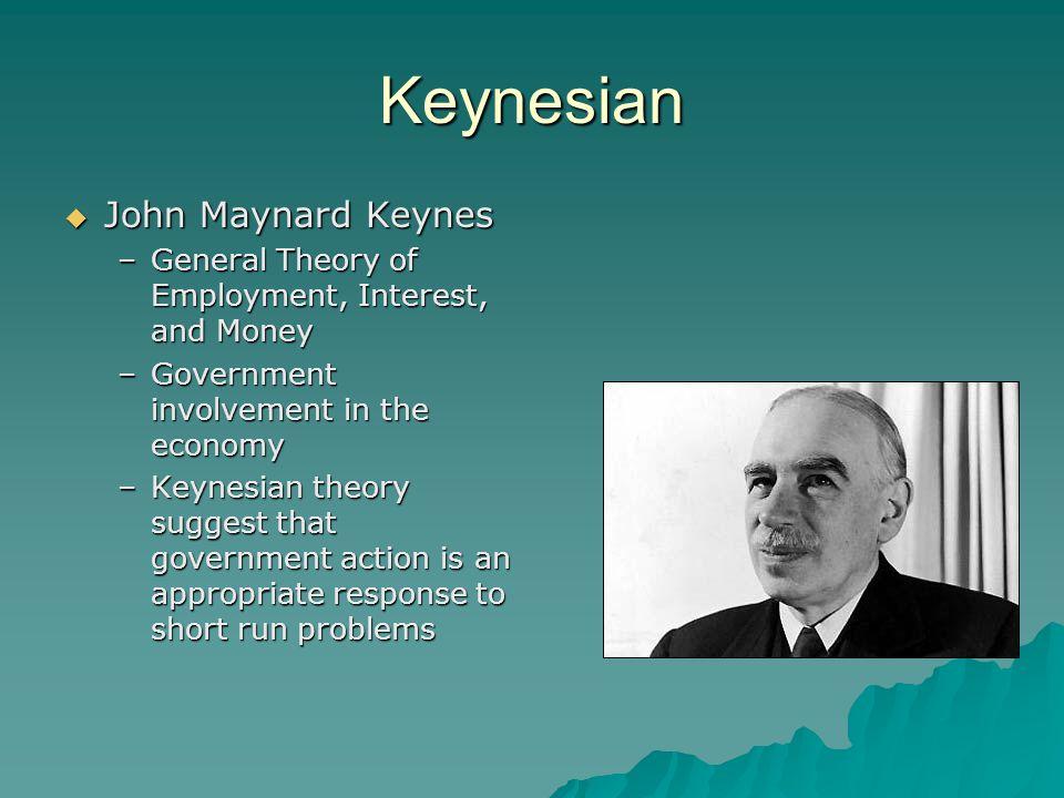 Keynesian John Maynard Keynes