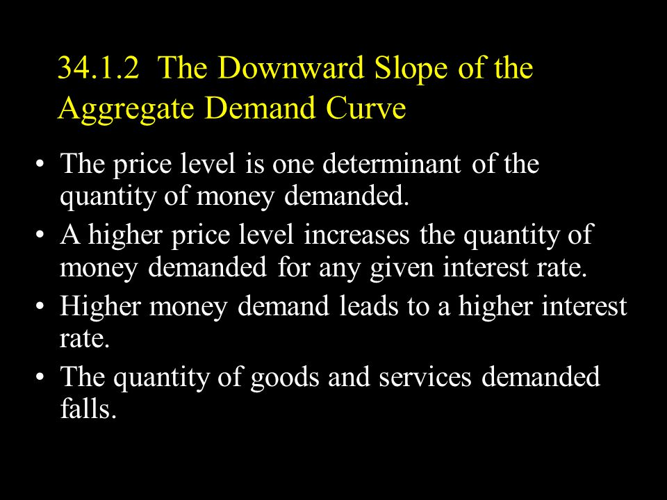 34.1.2 The Downward Slope of the Aggregate Demand Curve