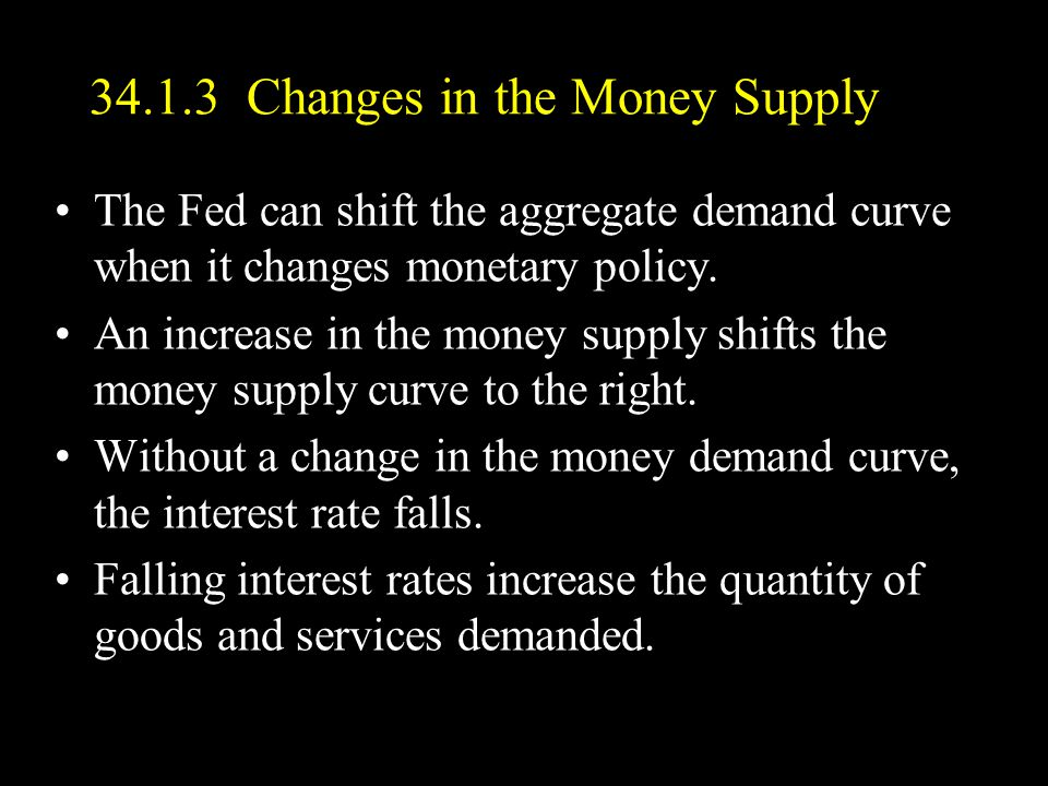 34.1.3 Changes in the Money Supply