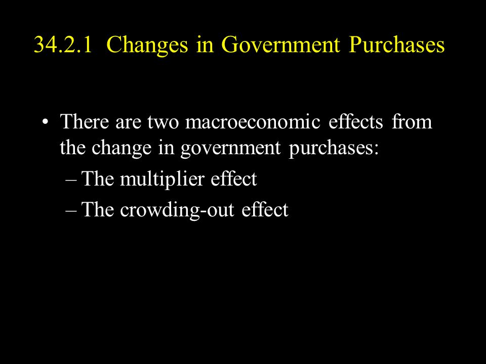 34.2.1 Changes in Government Purchases