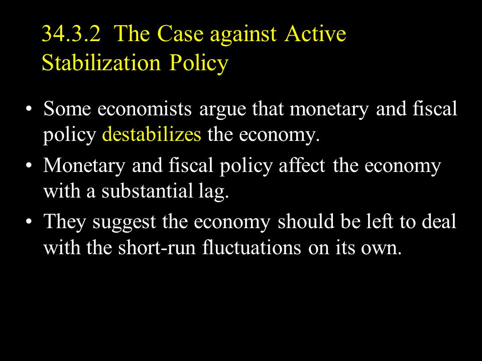34.3.2 The Case against Active Stabilization Policy