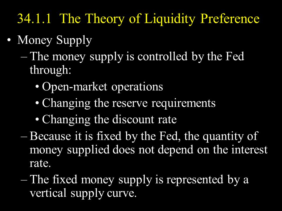 34.1.1 The Theory of Liquidity Preference