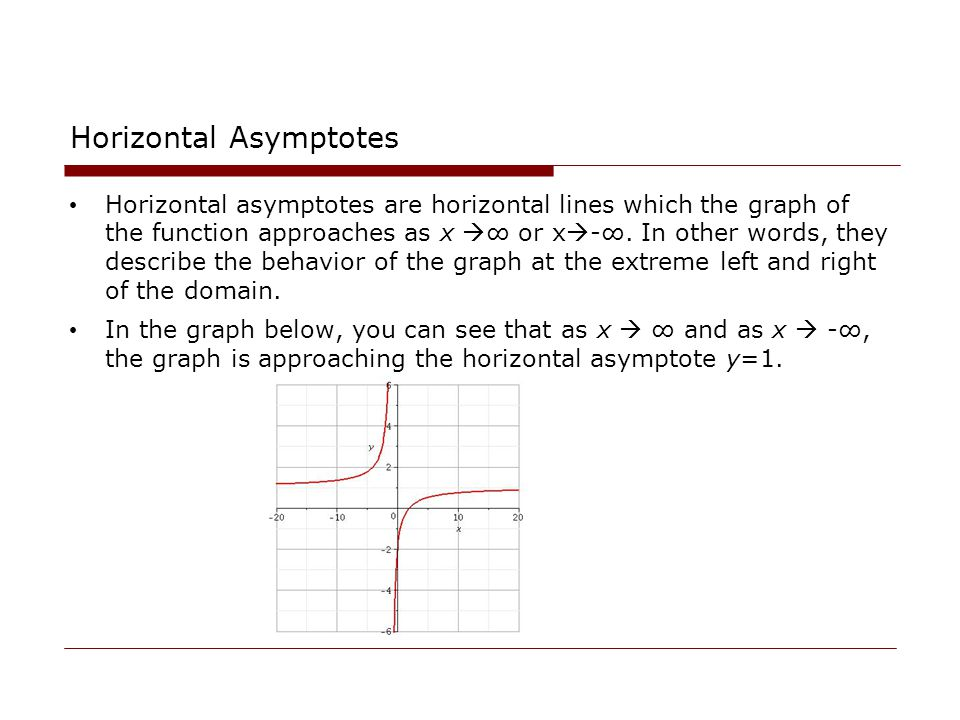 how to find the horizontal asymptotes for a function