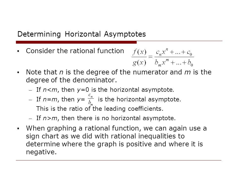 Determining Horizontal Asymptotes