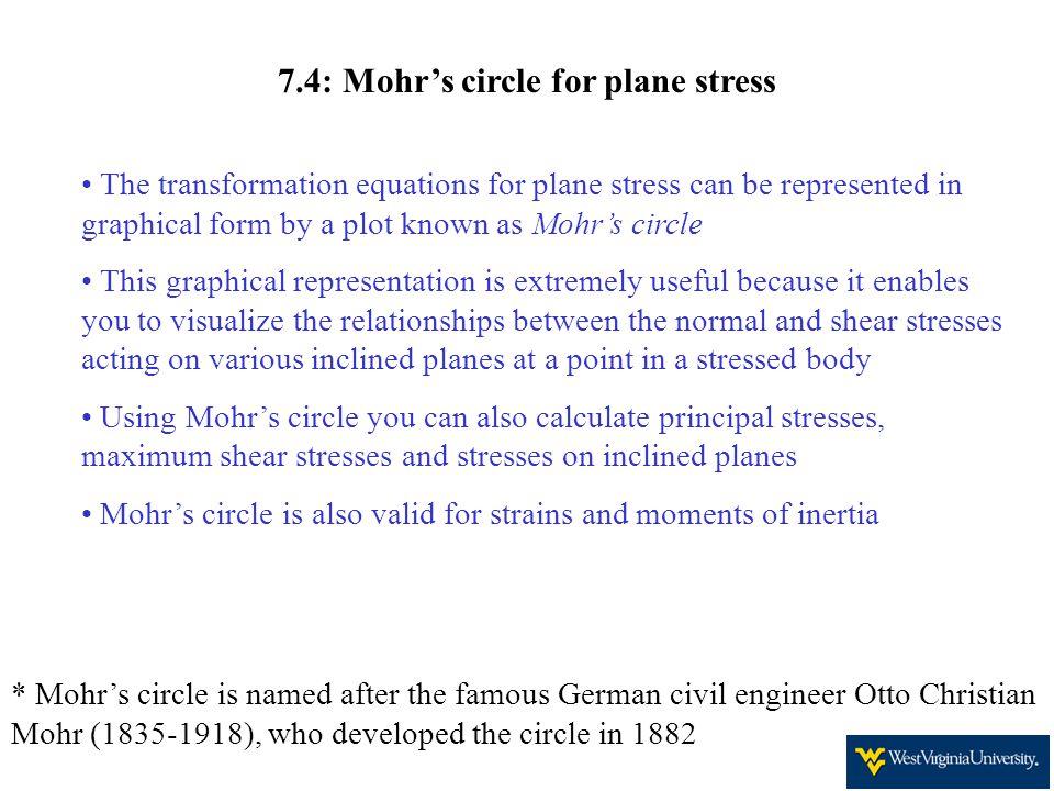 7.4: Mohr's circle for plane stress