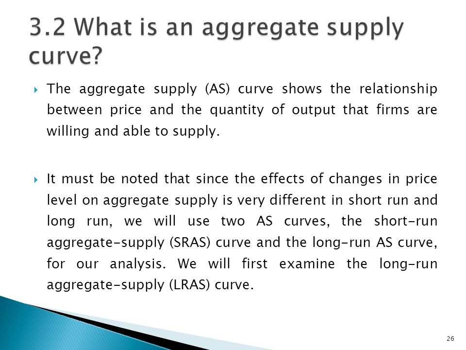 3.2 What is an aggregate supply curve