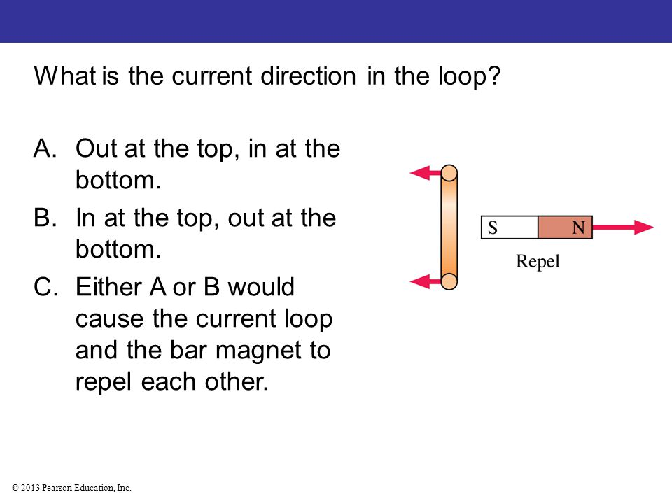 What is the current direction in the loop