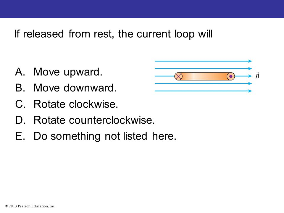If released from rest, the current loop will