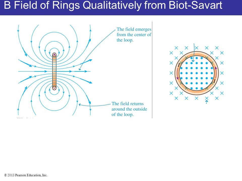 B Field of Rings Qualitatively from Biot-Savart