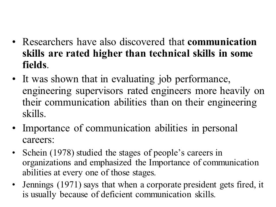 Importance of communication abilities in personal careers: