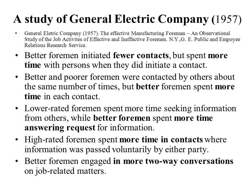 A study of General Electric Company (1957)