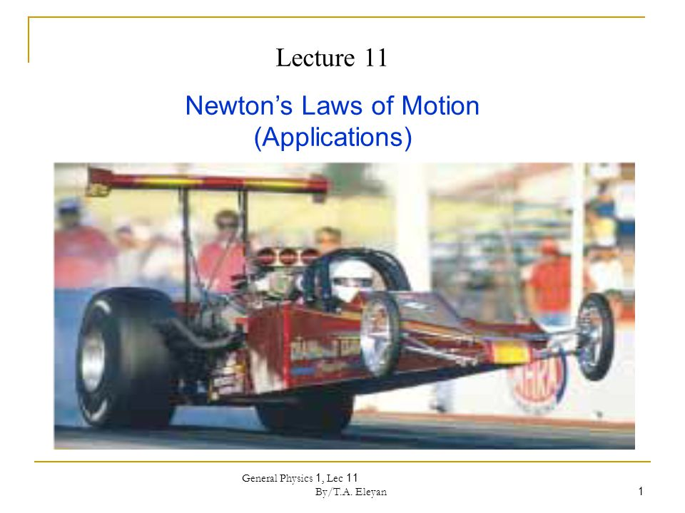 Newton's Laws of Motion (Applications)