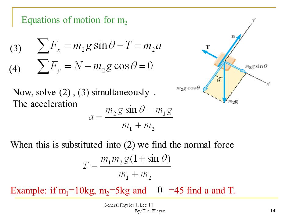 General Physics 1, Lec 11 By/T.A. Eleyan