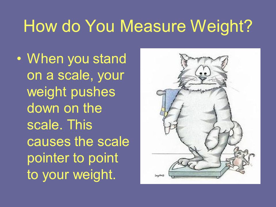 How do You Measure Weight