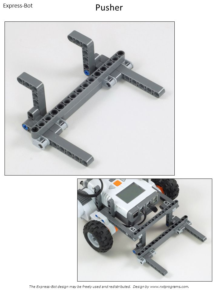 Express-Bot Pusher. The Express-Bot design may be freely used and redistributed.