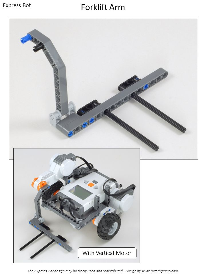 Forklift Arm Express-Bot With Vertical Motor