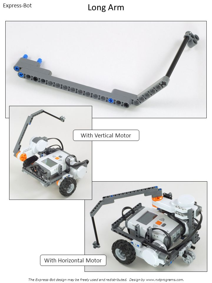 Long Arm Express-Bot With Vertical Motor With Horizontal Motor