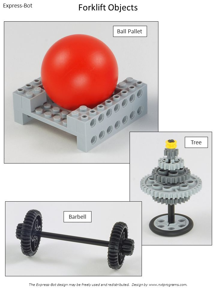 Forklift Objects Express-Bot Ball Pallet Tree Barbell